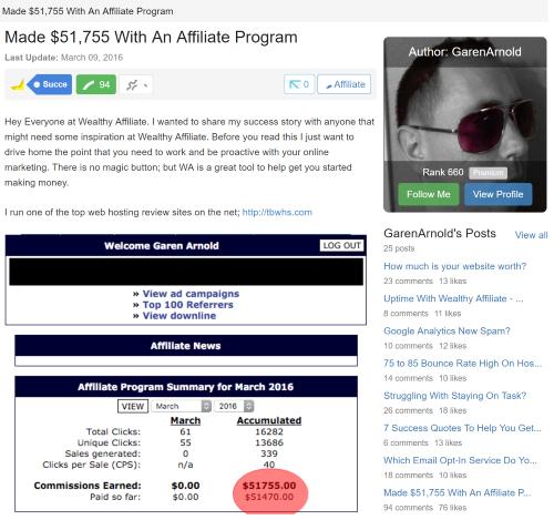 Made 51K WA Success Story