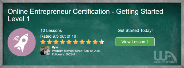 Getting Started Certification Course
