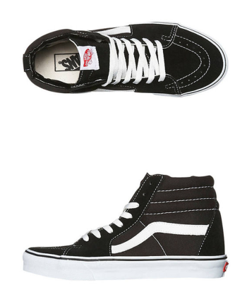 Vans Black and White Sneakers