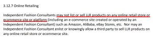 LulaRoe Ecommerce Platforms Not Allowed