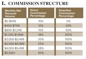 J Hilburn Commission Rate Structure