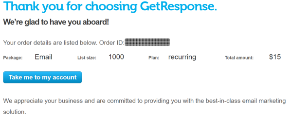 Get Response Proof of Account