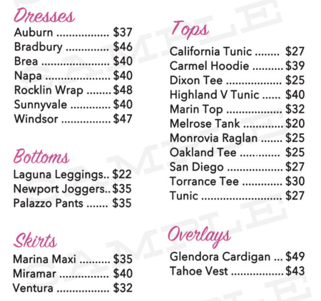 Piphany Price List