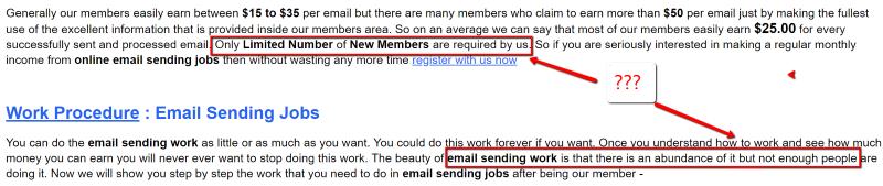 Email Sending Jobs Dishonesty
