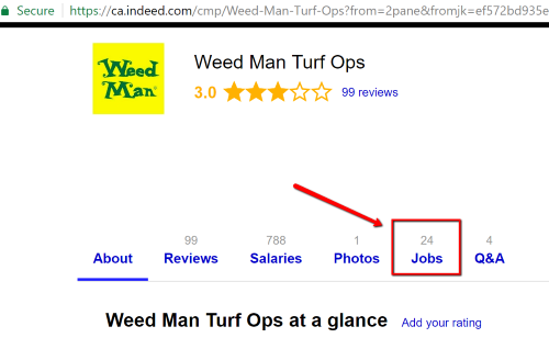 Weed Man Turf Ops where to find on Indeed Canada