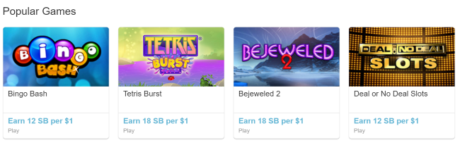Paid Games at Swagbucks