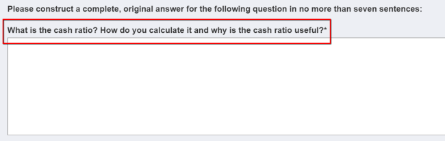 Study.com Application Example Question