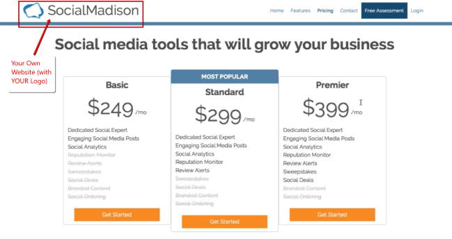 Your Own Social Owl Website - Pricing Page