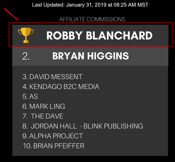 ClickBank Affiliate Leaderboard Robby Blanchard