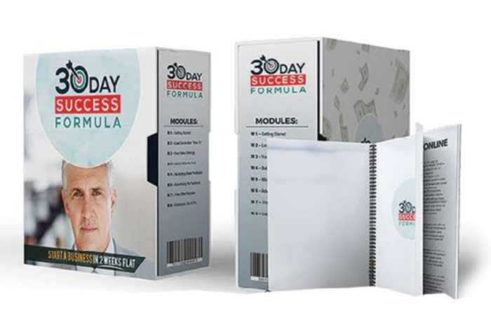 30 Day Success Formula Product Screen