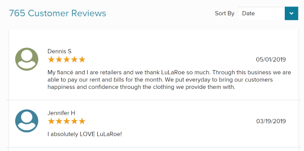 LuLaRoe Positive Reviews