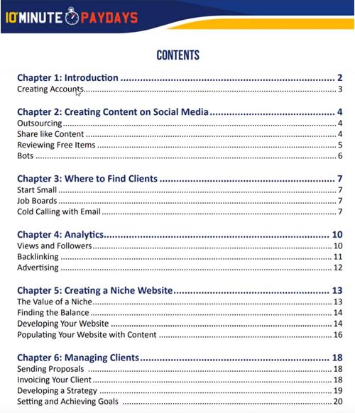 10 MPD Secret Methods Table of Contents