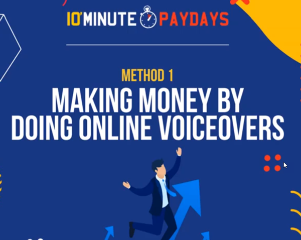 10 Minute Money Making Method 1 Voiceovers
