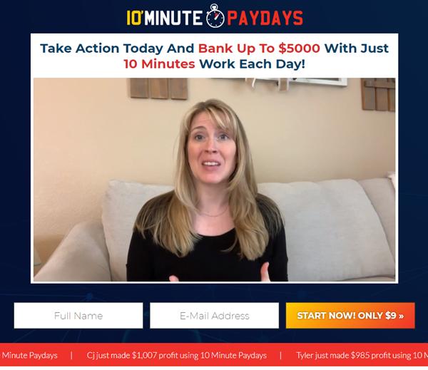 10 Minute Paydays Testimonial