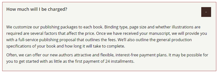 Dorrance FAQ Pricing