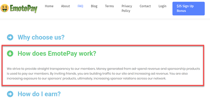 EmotePay FAQ How Does it Work
