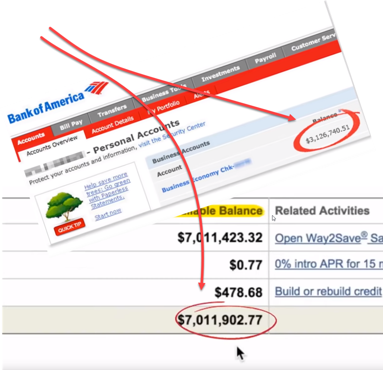 Income Sites Online Bank Statement Proof