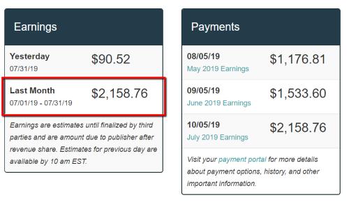 MV Revenue July 2019