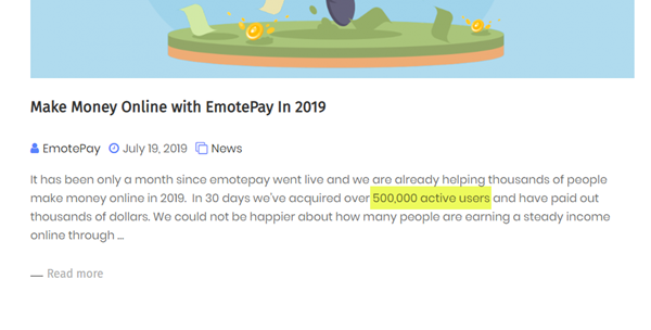 Over 500 Thousand Users