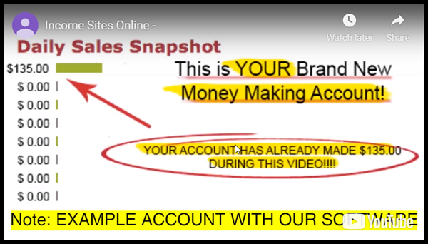 Your Income Sites Online Account