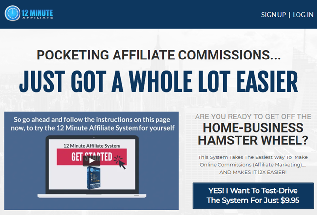 Affiliate Marketing 12 Minute Affiliate System Features List
