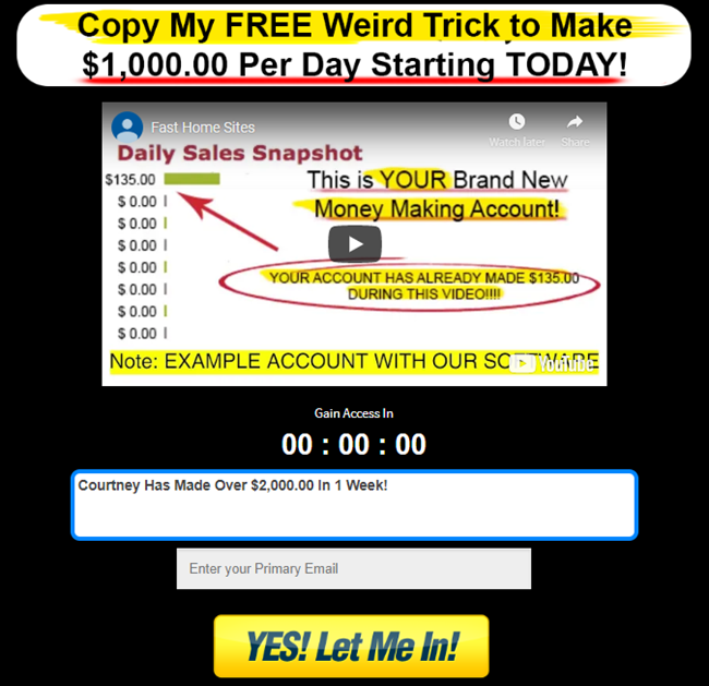 Fast Home Sites Review Scam Or Legit 1 000 Day