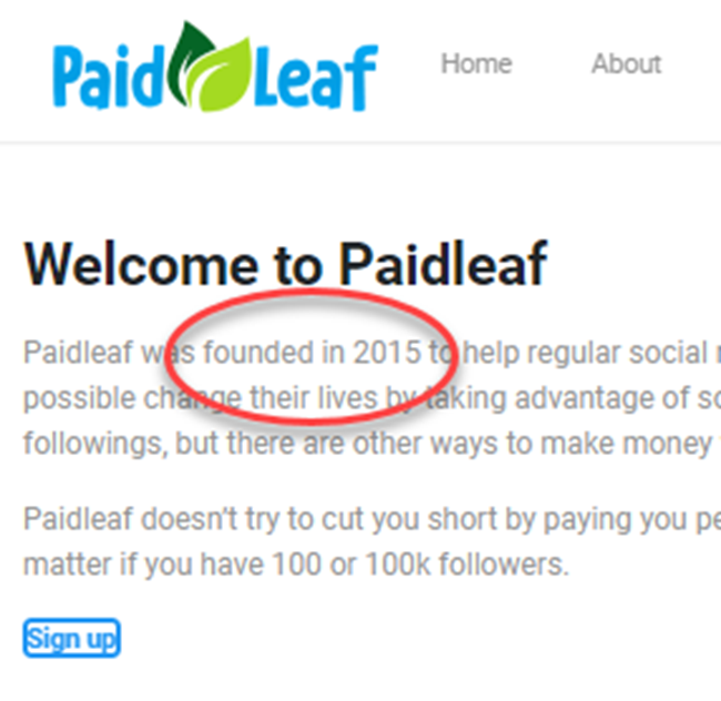 PaidLeaf Review About Date Founded