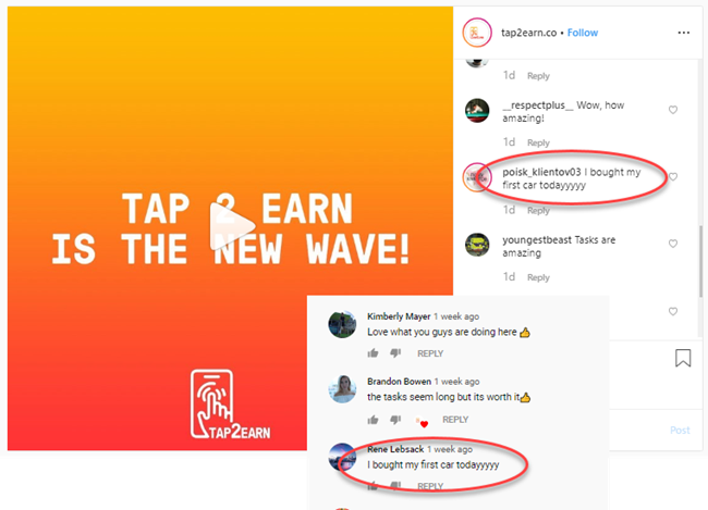 Tap 2 Earn Review Instagram YouTube Testimonials