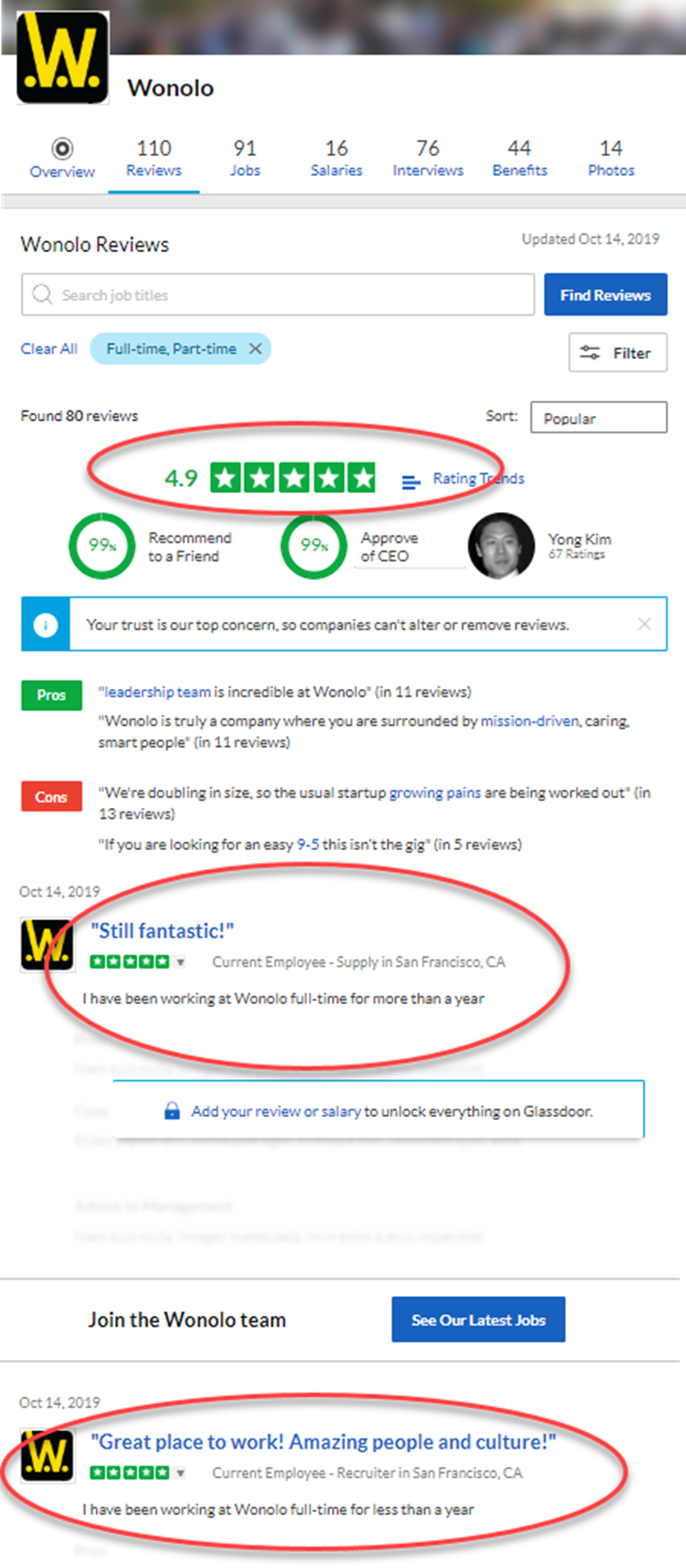 Wonolo Review Glassdoor Reviews
