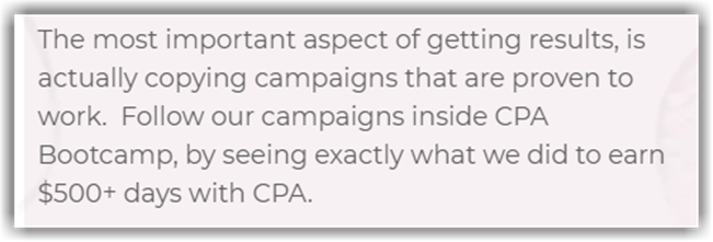 CPA Bootcamp Review 500 Per Day