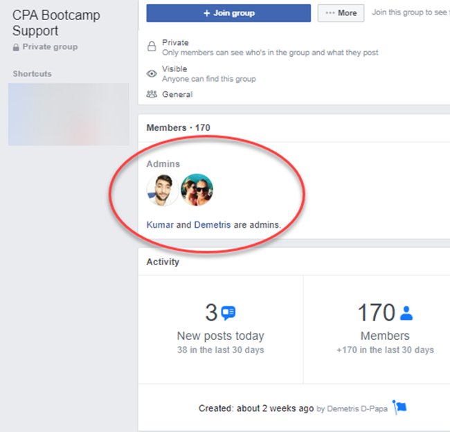 CPA Bootcamp Review Facebook Group
