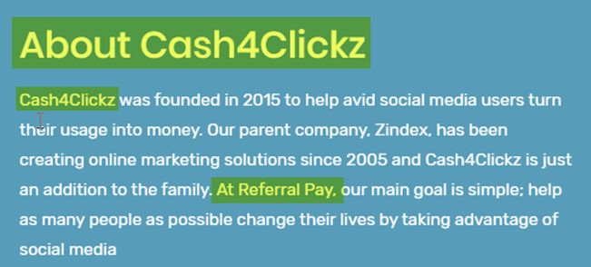 Cash4Clickz Review About Referral Pay