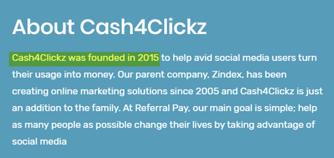 Cash4Clickz Review Founded