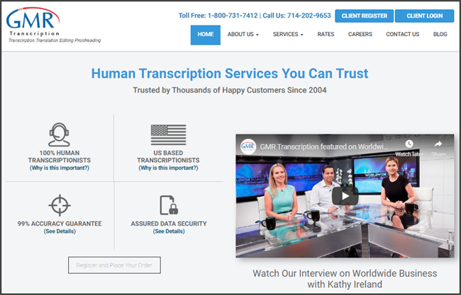 GMR Transcription Review Official Site