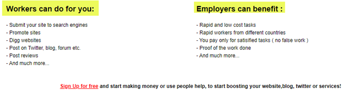 RapidWorkers Client Page