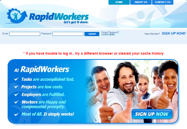 RapidWorkers Review Official Website