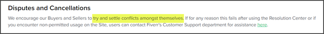 Fiverr Disputes and Cancelations