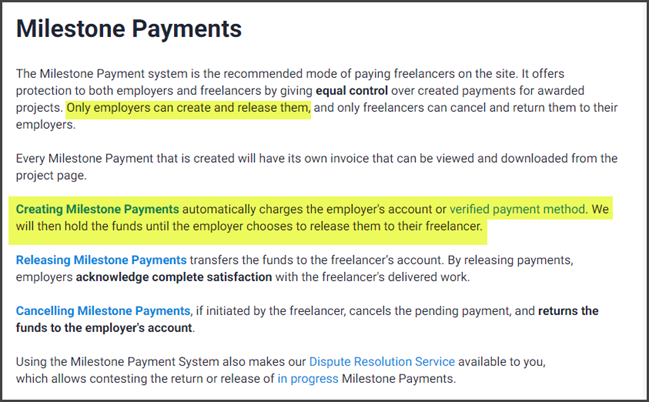 Freelancer.com Review Milestone Payments