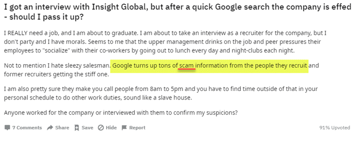 Insight Global Scam College Kids