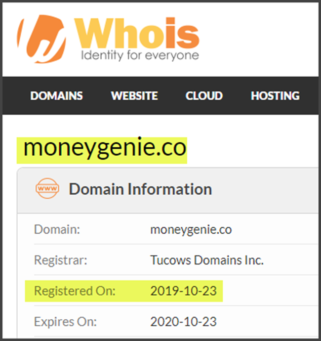 Money Genie Review WhoIs