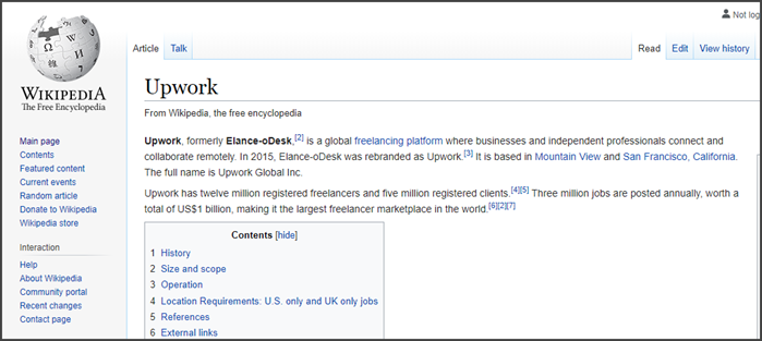 Upwork Review Wikipedia