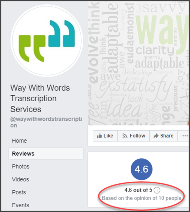 Way With Words Facebook Reviews