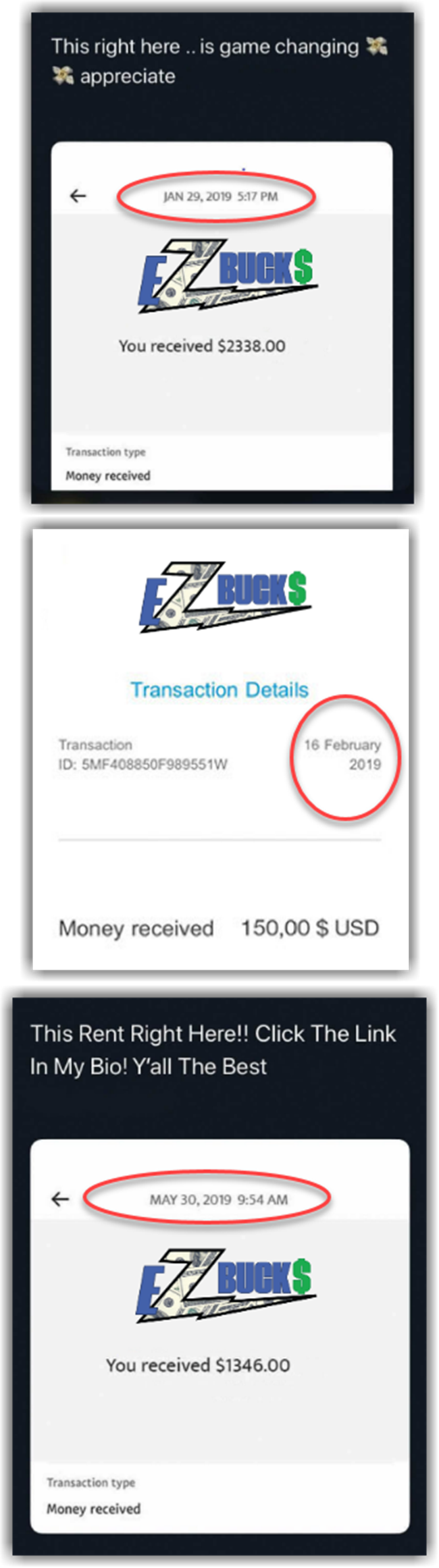 EZ Bucks Review Fake Payment Proofs