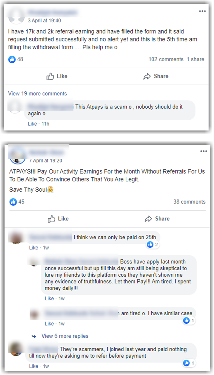 ATPAYS Review Facebook Reviews and Complaints