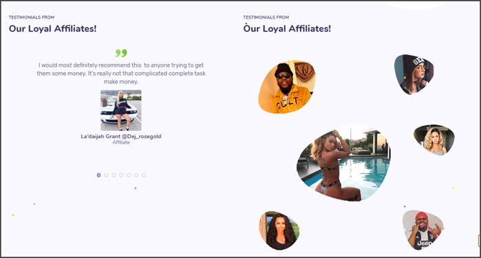 JustEarn Review Fake Testimonials