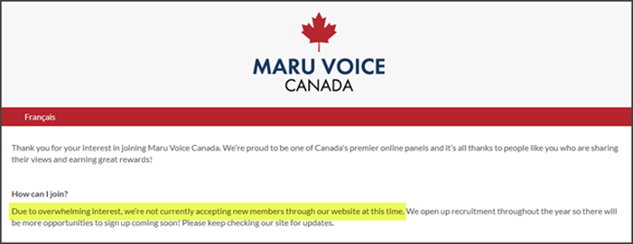 Maru Voice Canada Review Join Now