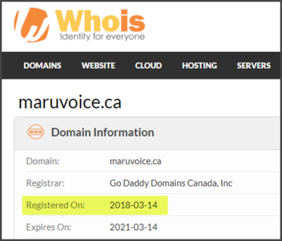 Maru Voice Canada Review Registration Date