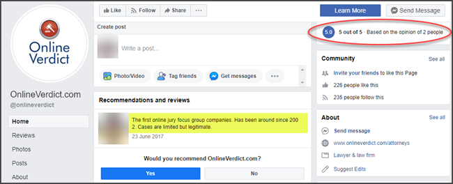 Online Verdict Review Facebook Reviews and Complaints