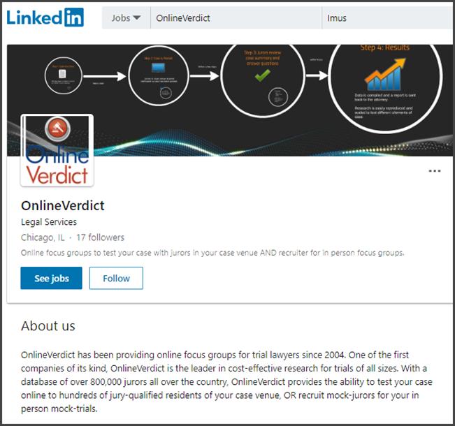 Online Verdict Review LinkedIn
