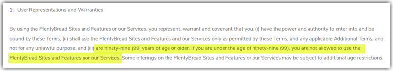 PlentyBread Review Terms and Conditions